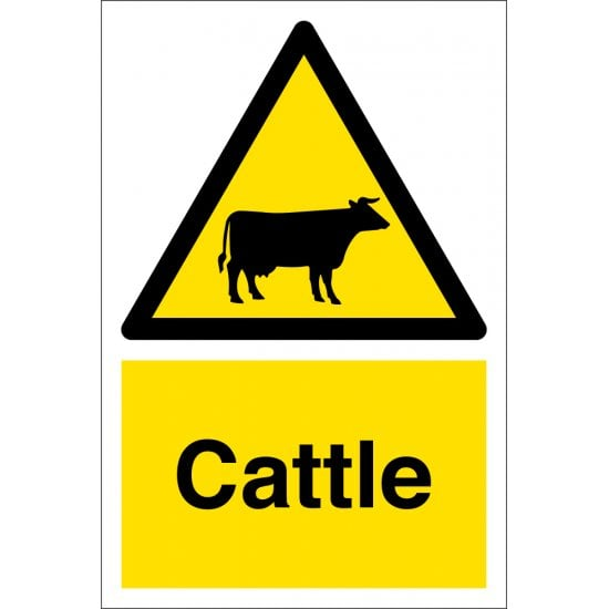 Cattle Safety Signs