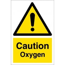 Caution Oxygen Signs