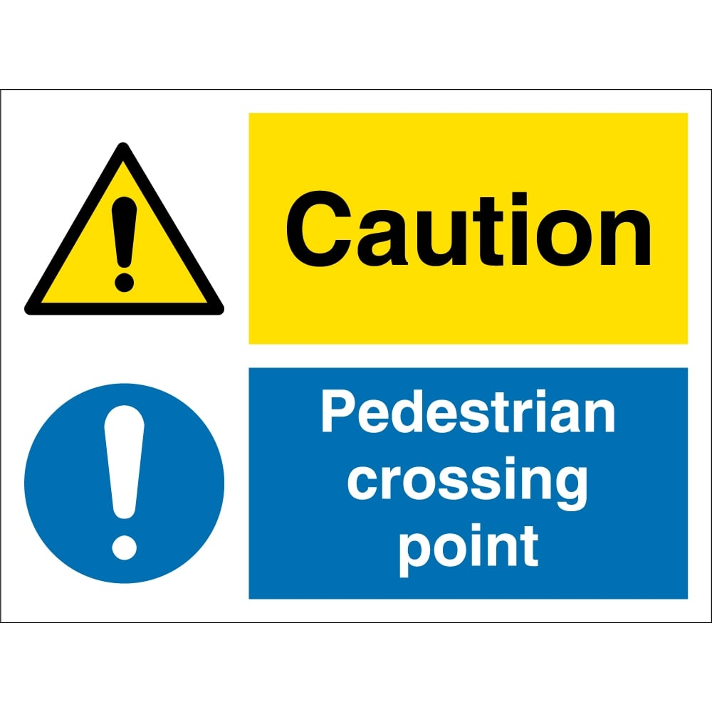 caution pedestrian crossing point signs from key signs uk