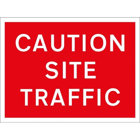 Caution Site Traffic Signs