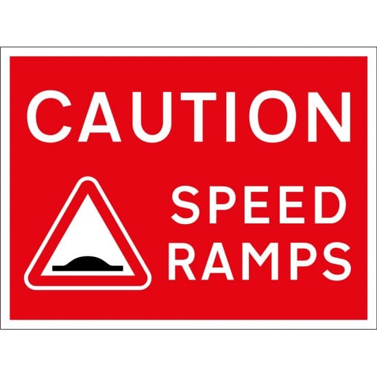 Caution Speed Ramps Signs