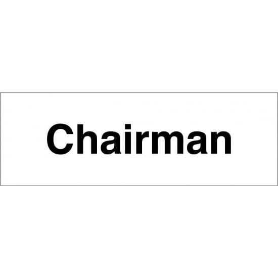 Chairman Signs