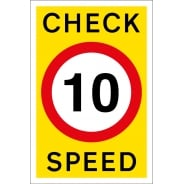 Check Speed 10mph Signs