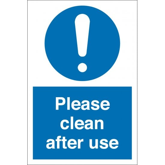 Clean After Use Signs