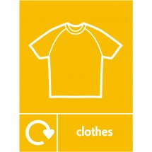 Clothes Recycling Signs