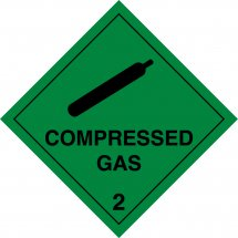 Compressed Gas 2 Labels
