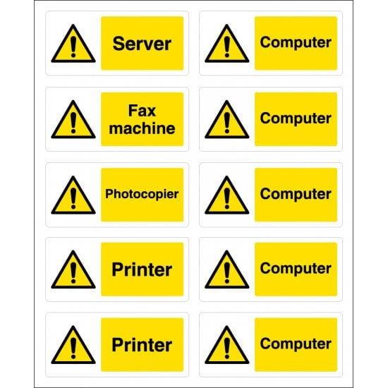Computer Safety Socket Labels