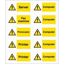 Computer Safety Socket Labels