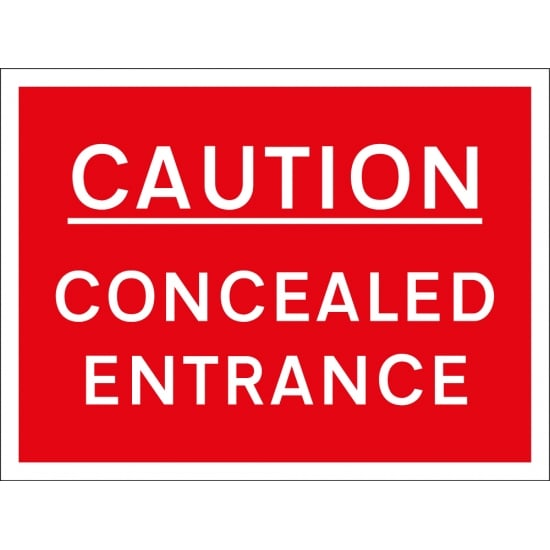 Concealed Entrance Signs