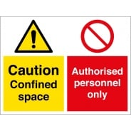 Confined Space Authorised Personnel Only Signs