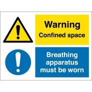 Confined Space Breathing Apparatus Must Be Worn Signs