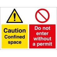 Confined Space Do Not Enter Without A Permit Signs
