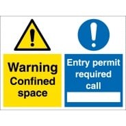 Confined Space Entry Permit Required Signs