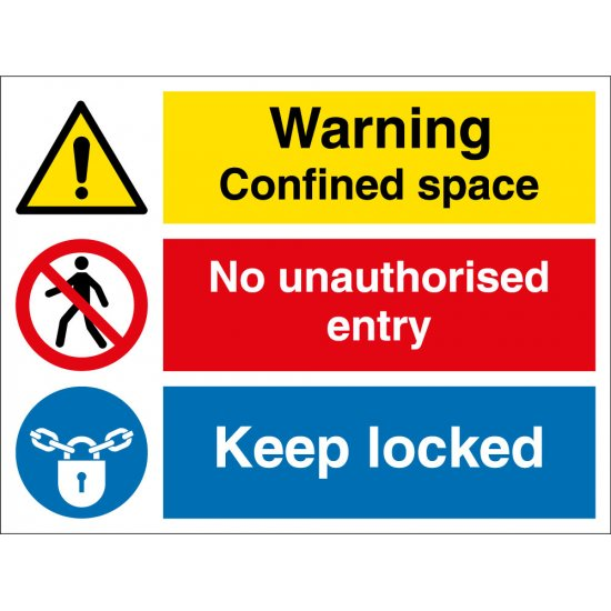 Confined Space Keep Locked Signs