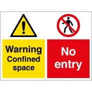 Confined Space No Entry Signs