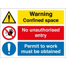 Confined Space Permit Required Signs