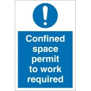 Confined Space Permit To Work Required Signs
