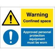 Confined Space Personal Protection Equipment Signs