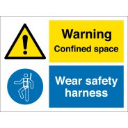 Confined Space Wear Safety Harness Signs