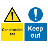 Construction Site Keep Out Signs