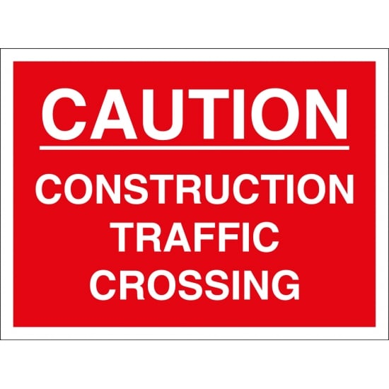 Construction Traffic Crossing Signs