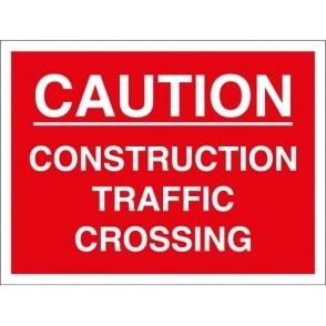 Construction Traffic Crossing Signs