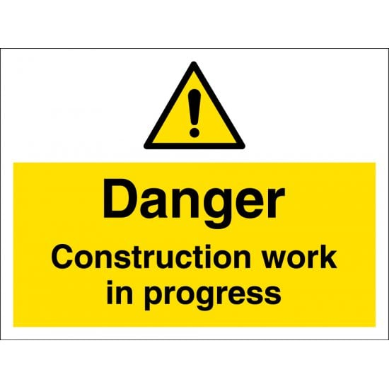 Construction Work In Progress Signs