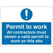 Contractors Must Obtain A Permit To Work Signs