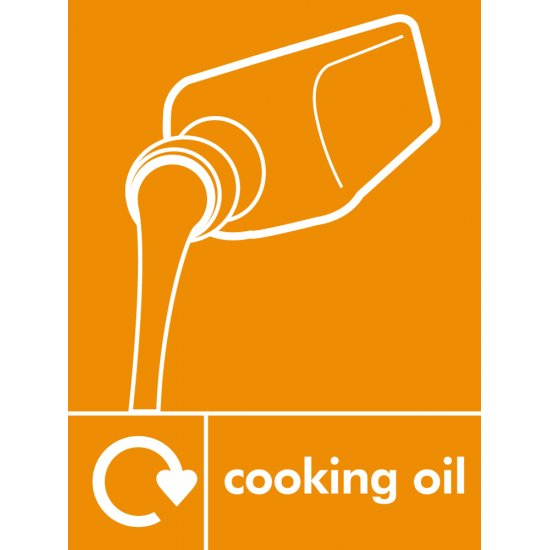 Cooking Oil Waste Recycling Signs