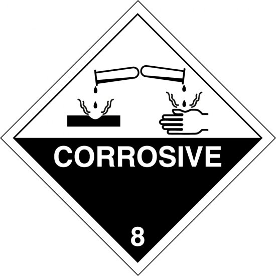 Corrosive 8 Labels From Key Signs Uk