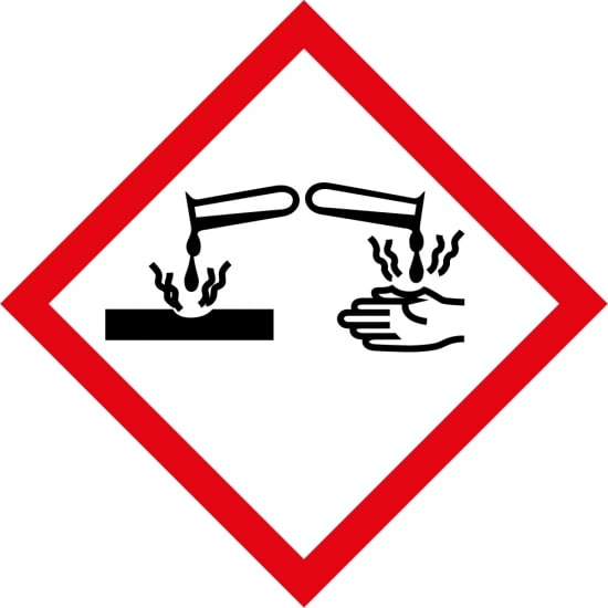 Corrosive GHS Labels