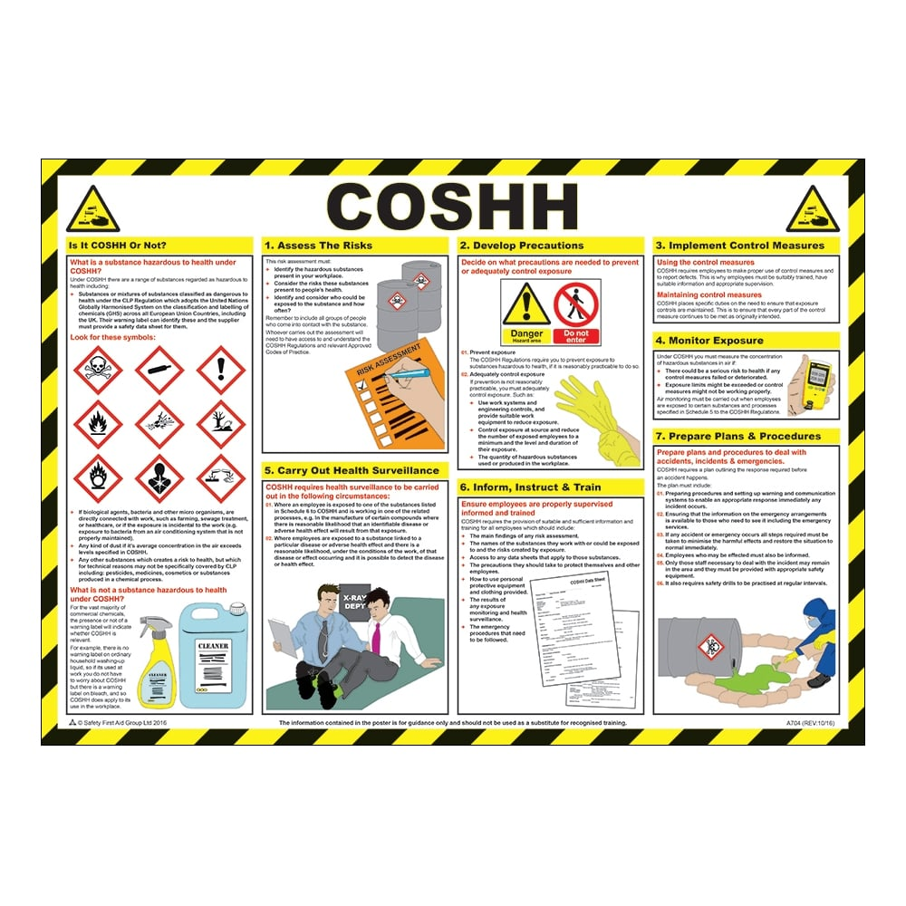 Coshh Safety Posters 590mm X 420mm From Key Signs Uk