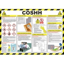 COSHH Safety Posters 590mm x 420mm