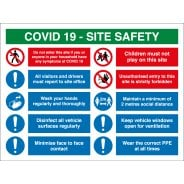COVID Construction Site Safety Multi Message Signs