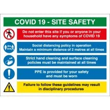 COVID Construction Site Safety Signs 2 Metre Distance