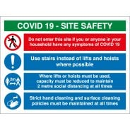 COVID Construction Site Safety Signs