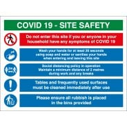COVID Construction Site Safety Signs Wash Hands When Entering And Leaving Site