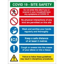 COVID Site Safety Multi Message Signs