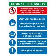 COVID Site Safety Signs Keep A Safe Distance