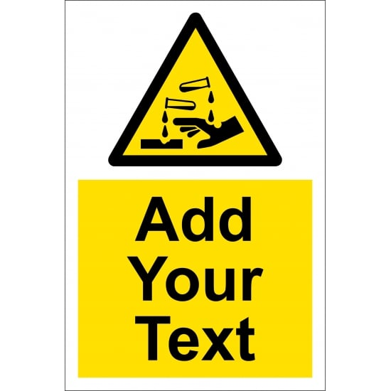 Custom Corrosive Safety Signs