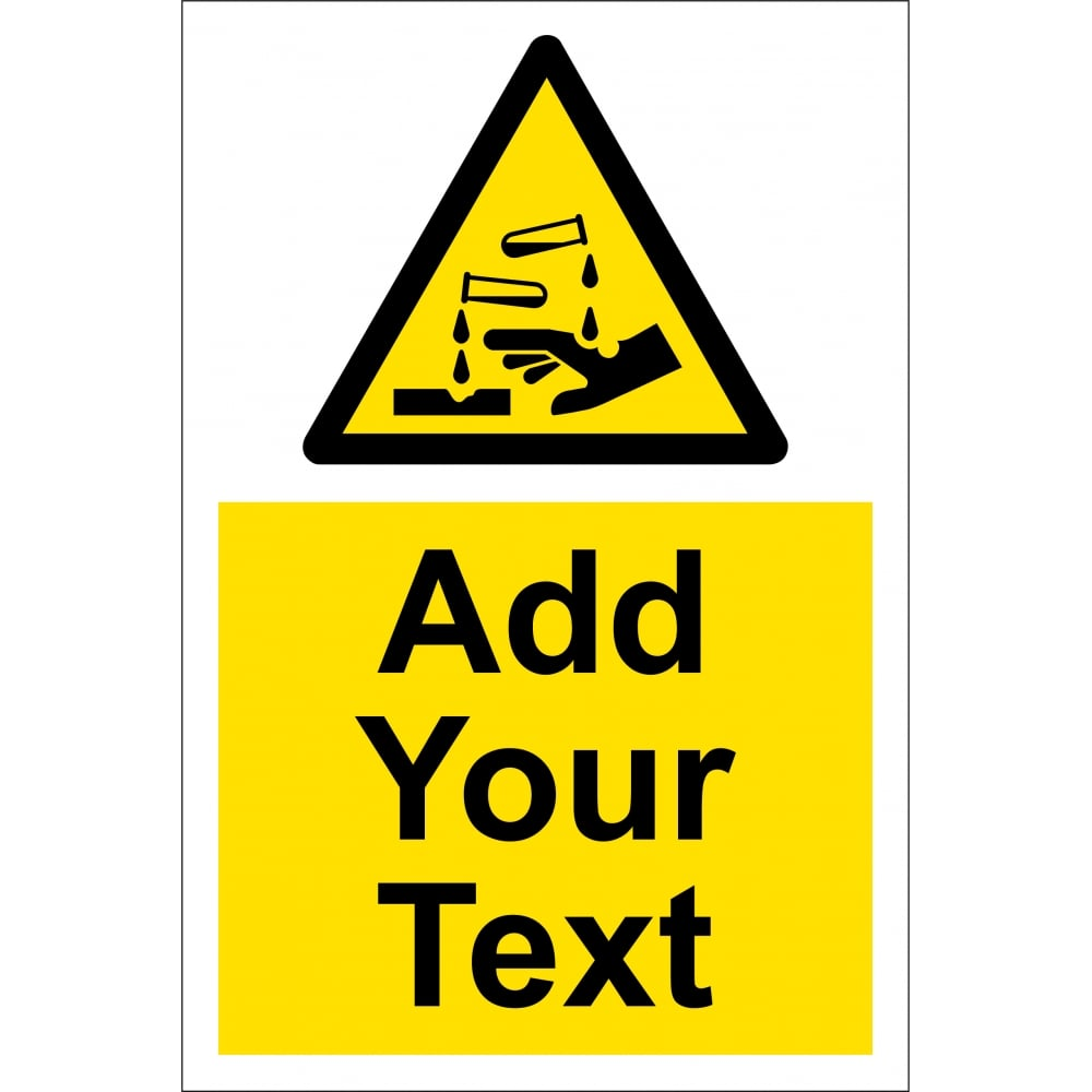 Custom Corrosive Safety Signs From Key Signs Uk