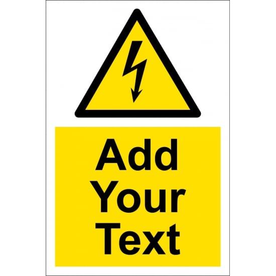 Custom Electrical Hazard Signs