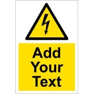 Custom Electrical Hazard Signs