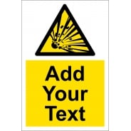 Custom Explosive Safety Signs