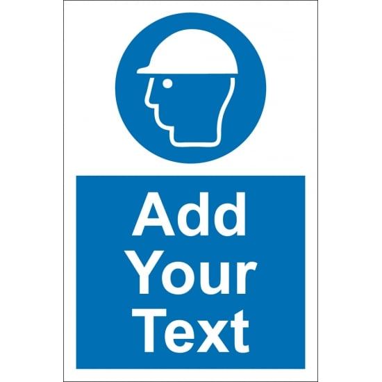 Custom Hard Hat Safety Signs