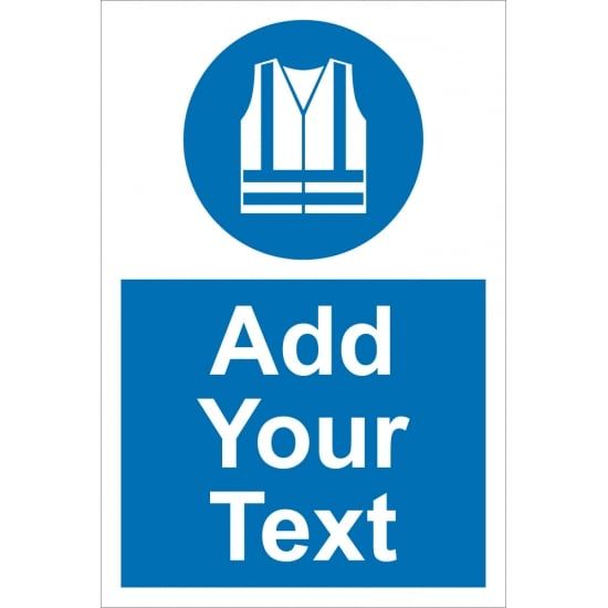 Custom High Visibility Vest Signs