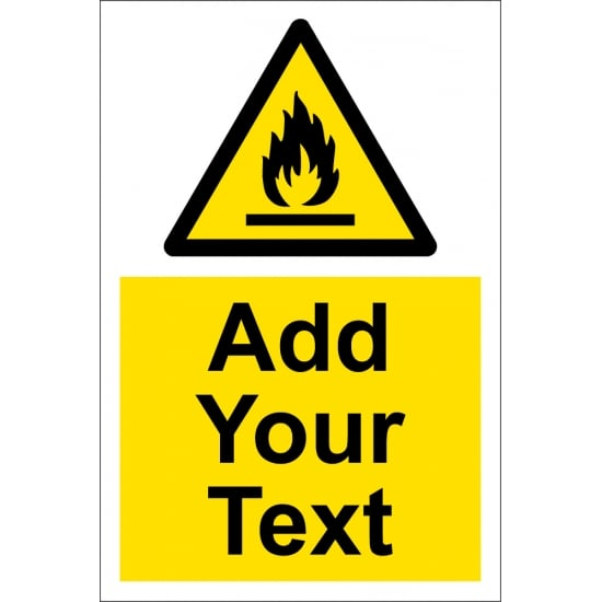 Custom Highly Flammable Signs