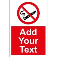 Custom No Electronic Cigarettes Signs
