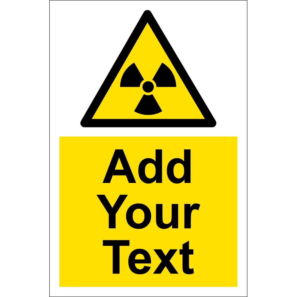 custom radiation warning signs from key signs uk