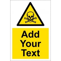 Custom Toxic Material Signs